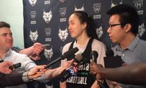 邵婷试训WNBA山猫队 同男子对抗训练