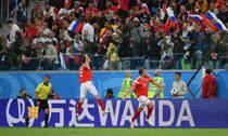 日本赢南美球队创历史 俄罗斯3-1埃及出线在即