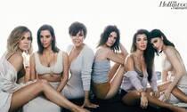 卡戴珊家族拍写真 六名媛集体出镜