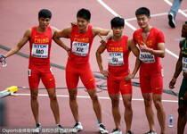 男子4×100米中国队破亚洲纪录 决赛有望赢美国