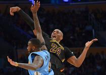 NBA-湖人不敌掘金 科比28分