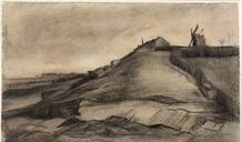 一幅梵高素描首次被发现:粗野完美地勾勒了蒙马特山