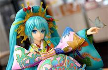 初音未来歌舞伎花魁手办 豪华盛装配色超艳丽