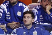 梅西率阿根廷国家队观战NBA 煤球王目不转睛兴致高