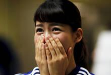 观看女足世界杯半决赛的日本球迷