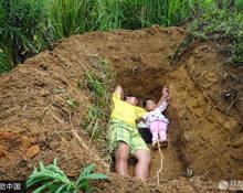 男子带重病女儿躺墓穴 称为提前适应