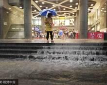 上海暴雨一幕