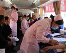响水采血点市民排起长队献血(组图)