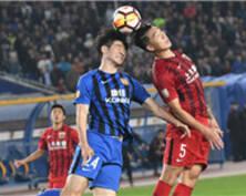 中超第26轮 | 江苏苏宁主场0:0战平上海上港(组图)