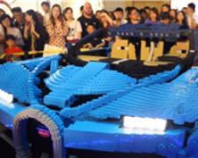 238762片積木拼搭樂高版布加迪超跑亮相南京(組圖)