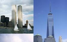 """""""9·11事件""""十六周年祭 纽约世贸中心遗址今昔对比"""