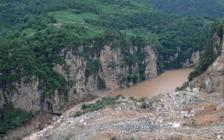堰塞湖原址垮塌 附近居民現已被轉移到安全區域