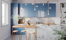 亮色系厨房,让你做饭也能嗨起来!