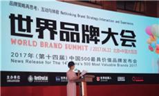 2017年第十四届世界品牌大会,法恩莎跻身中国品牌500强