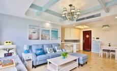 110㎡地中海风格3室2厅,客厅飘窗超美超仙!