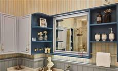 不凡的色彩搭配精妙的设计,享受直撩心底的小美风浴室空间生活!
