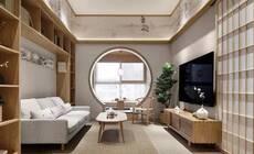 126平简约日式三居,有干练客厅和温馨儿童房