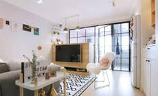 4.5万改造32平小公寓,这粉白色系让人一见倾心!