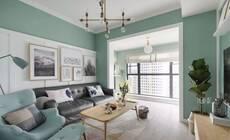客厅铺上木地板,真的是很温馨舒适!
