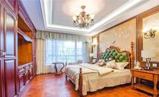 贴墙布的床头墙,好漂亮!