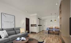100㎡北欧风两居,客厅、卧室都有飘窗的美家!