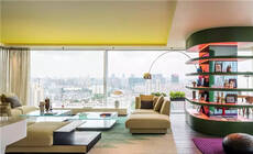 250㎡大平层公寓,居然设计成这样的多彩空间