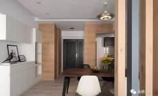 80平老房改造现代混搭 没有电视的电视墙