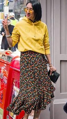 流穿风|卫衣混搭半身裙 这才是春天该有的样子!