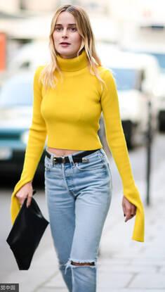 把毛衣穿出新花样 去逛时装周这么穿简直太美腻