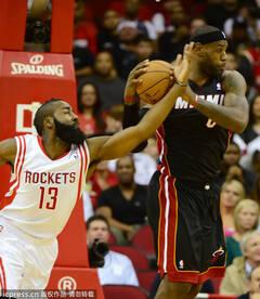 NBA 火箭VS热火图片
