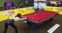前韩国小姐打台球塑性感翘臀