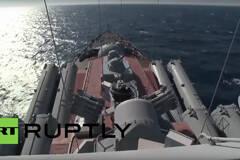 俄军光荣级巡洋舰抵达叙海岸 打开S-300垂发系统