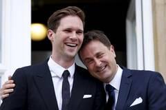 卢森堡首相与同性伴侣的婚礼
