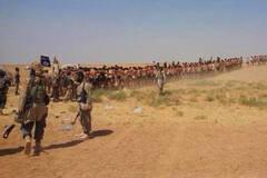 ISIS沙漠处决250名叙利亚士兵画面