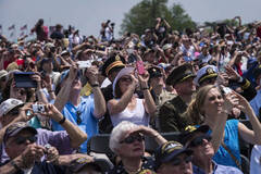 美国华盛顿庆祝胜利日活动现场