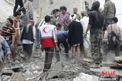 沙特空袭也门首都致80人丧生
