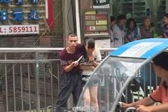 被警方追捕途中 盗贼持刀挟持女子