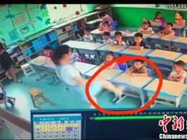 河北沙河一幼儿园教师虐童被开除:踹桌子、拧孩子耳朵
