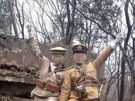 2名男子抗日碉堡前扮日本兵摆造型拍照 警方介入