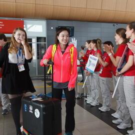 中国跳水队抵达喀山