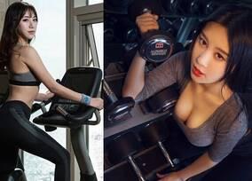 中国乳神曝光健身照 比拼韩国最美女教师