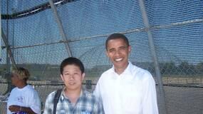 晒张2004年和奥巴马的合影,看看是PS的吗!