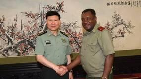 张阳会见安哥拉武装力量副总参谋长