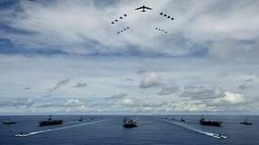 兵临城下!美国三航母群靠近朝鲜军演会否开战?