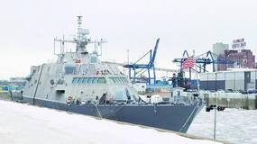 严寒多恐怖?美最新战舰被真正封冻在加拿大!