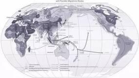 中国人从何而来?人类迁移路线图出来了