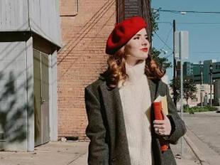 在冬天带一顶贝雷帽