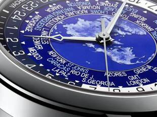戴上世界时的腕表