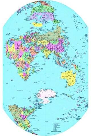 中文竖版世界地图即将面世(图)