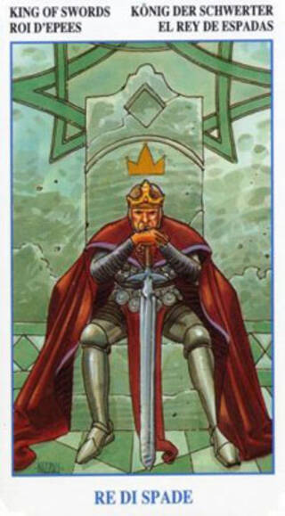 """""""宝剑国王""""塔罗牌的意义"""